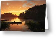 Lakeside Greeting Card by Cynthia Decker