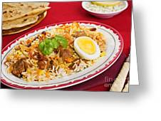 Lamb Biryani Greeting Card by Colin and Linda McKie
