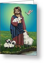 Lamb Of God Greeting Card by Victoria De Almeida