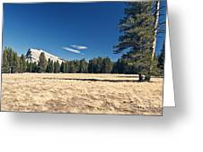 Lambert Dome In Yosemite National Park Greeting Card by Justin Paget