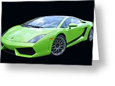 Lambourghini Salamone Greeting Card by Allen Beatty