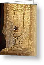 Lamp By The Window Greeting Card by Lena Wilhite