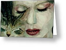 Lana Del Rey and a friend  Greeting Card by Paul Lovering