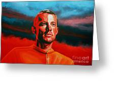Lance Armstrong Greeting Card by Paul  Meijering