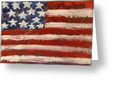 Land Of The Free Greeting Card by Niceliz Howard