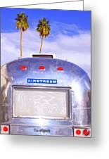 Land Yacht Palm Springs Greeting Card by William Dey