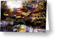 Landscape And Red Lips Greeting Card by Navo Art