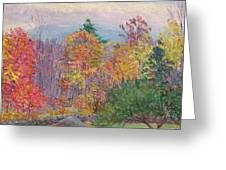 Landscape At Hancock In New Hampshire Greeting Card by Lilla Cabot Perry