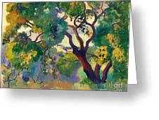 Landscape At St Tropez  1 Greeting Card by Pg Reproductions