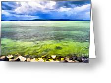 Landscape Of The Balaton Lake Greeting Card by Odon Czintos