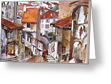 Laneways Of Nerac Greeting Card by Shirley  Peters
