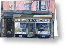 Lanza's Restaurant 11th Street East Village Greeting Card by Anthony Butera