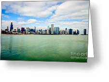Large Picture Of Downtown Chicago Skyline Greeting Card by Paul Velgos