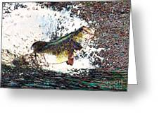 Largemouth Bass P180 Greeting Card by Wingsdomain Art and Photography