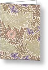 Larkspur Design Greeting Card by William Morris