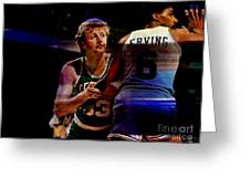 Larry Bird Greeting Card by Marvin Blaine