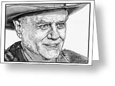 Larry Hagman In 2011 Greeting Card by J McCombie