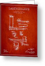 Laryngoscope Patent From 1937  - Red Greeting Card by Aged Pixel