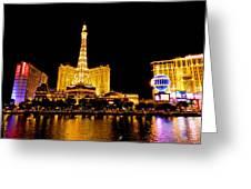 Las Vegas 012 Greeting Card by Lance Vaughn