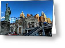 Las Vegas 068 Greeting Card by Lance Vaughn