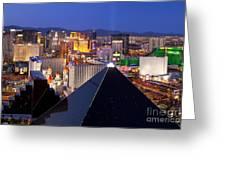 Las Vegas Skyline Greeting Card by Brian Jannsen