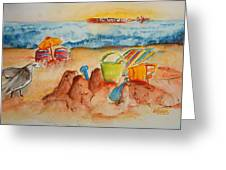 Late Afternoon Beach Greeting Card by Elaine Duras