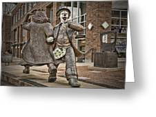 Late For Interurban  Greeting Card by Joanna Madloch