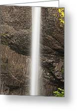 Latourell Falls Panorama Greeting Card by Andrew Soundarajan