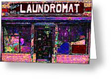 Laundromat 20130731 Greeting Card by Wingsdomain Art and Photography