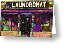 Laundromat 20130731p45 Greeting Card by Wingsdomain Art and Photography