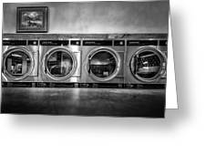 Laundromat Art Greeting Card by Bob Orsillo