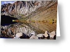 Laural Mountain Convict Lake California Greeting Card by  Bob and Nadine Johnston