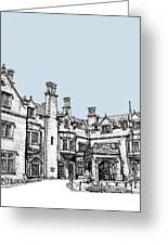 Laurel Hall In Light Blue Greeting Card by Lee-Ann Adendorff
