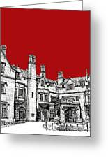 Laurel Hall In Red Greeting Card by Lee-Ann Adendorff