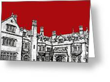 Laurel Hall In Red Greeting Card by Adendorff Design