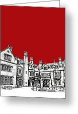 Laurel Hall In Red -portrait- Greeting Card by Lee-Ann Adendorff