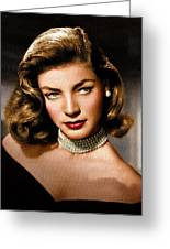 Lauren Bacall Greeting Card by Allen Glass