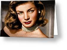 Lauren Bacall Greeting Card by Allen Glass