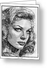 Lauren Bacall Greeting Card by J McCombie