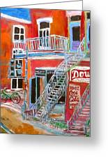 Laurier Balconies Greeting Card by Michael Litvack