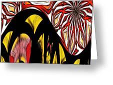 Lava Flow Greeting Card by Alec Drake