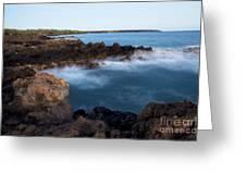 Lava Rock Shore Greeting Card by Jenna Szerlag