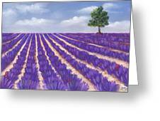 Lavender Season Greeting Card by Anastasiya Malakhova