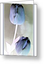 Lavender Tulips Greeting Card by Danielle  Parent