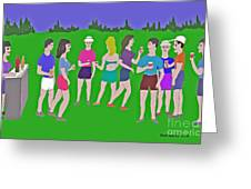 Lawn Party  Greeting Card by Fred Jinkins