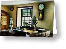 Lawyer - Globe Books And Lamps Greeting Card by Susan Savad