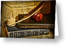 Lawyer - The Constitutional Lawyer Greeting Card by Paul Ward