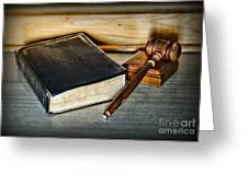 Lawyer - Truth And Justice Greeting Card by Paul Ward