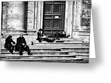 Lazy Day In Roma Greeting Card by John Rizzuto