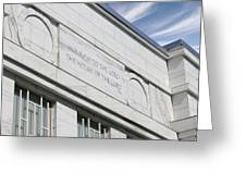 Lds Temple Raleigh Nc Greeting Card by Nathanael Verrill